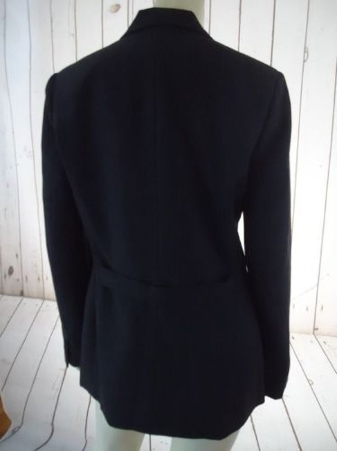 Ann Taylor Ann Taylor Blazer Dark Gray Heather Fine Stripe Wool Blend Lightweight Classy Image 7