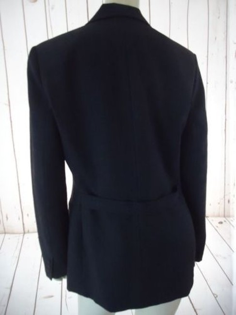 Ann Taylor Ann Taylor Blazer Dark Gray Heather Fine Stripe Wool Blend Lightweight Classy Image 8