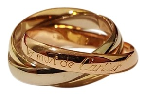Cartier Cartier 18k Tri Color Gold Trinity Rolling Ring