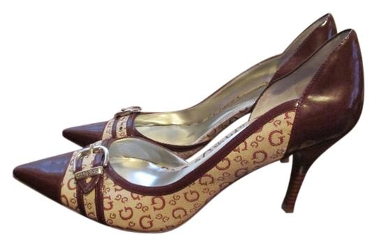 Guess Pointed-toe Heels 10 Burgundy Pumps