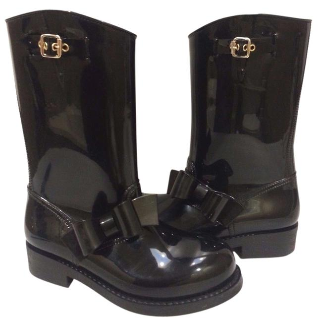 RED Valentino Black Bow Trim Boots/Booties Size US 6 Regular (M, B) RED Valentino Black Bow Trim Boots/Booties Size US 6 Regular (M, B) Image 1