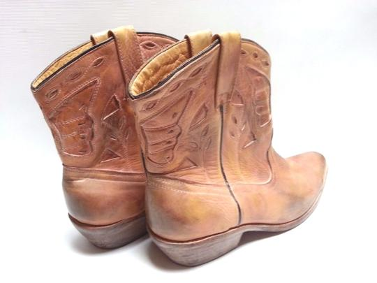 Bed Stü Cowgirl Western Leathe Vintage Look Tan Rust Boots Image 1