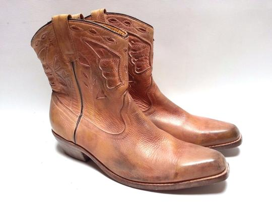 Bed Stü Cowgirl Western Leathe Vintage Look Tan Rust Boots Image 2