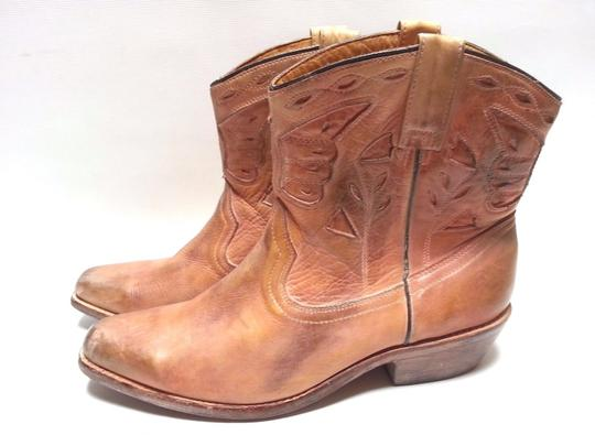 Bed Stü Cowgirl Western Leathe Vintage Look Tan Rust Boots Image 3