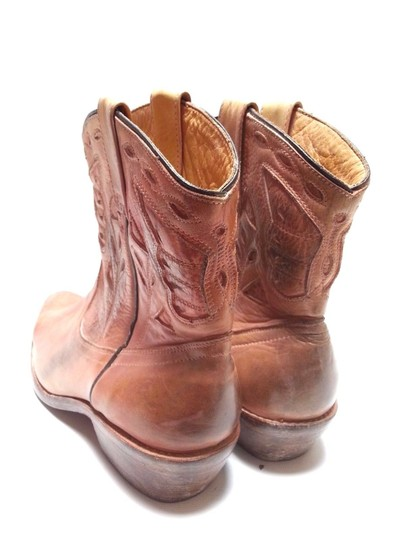 Bed Stü Cowgirl Western Leathe Vintage Look Tan Rust Boots Image 4