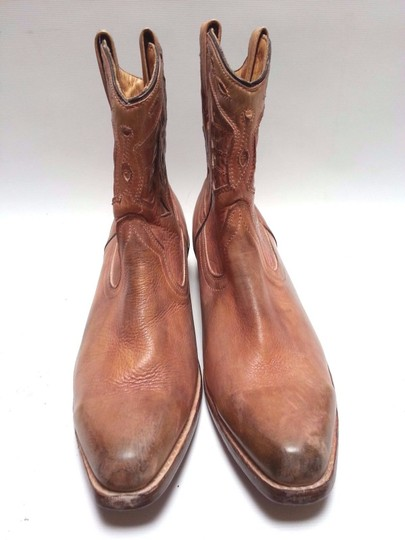 Bed Stü Cowgirl Western Leathe Vintage Look Tan Rust Boots Image 5