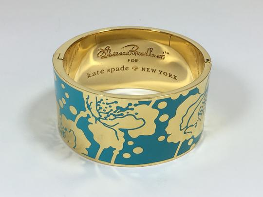 Kate Spade Kate Spade Field Day Blue Hinged Bracelet NWT Florence Broadhurst Collection Image 3