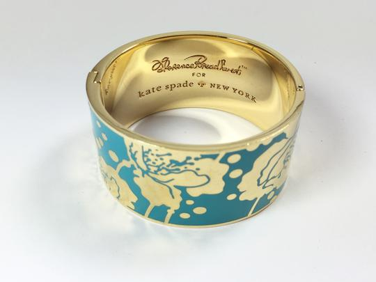 Kate Spade Kate Spade Field Day Blue Hinged Bracelet NWT Florence Broadhurst Collection Image 5