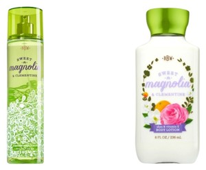 Bath and Body Works Sweet Magnolia & Clementine Set Of Body Mist & Body Lotion 8oz