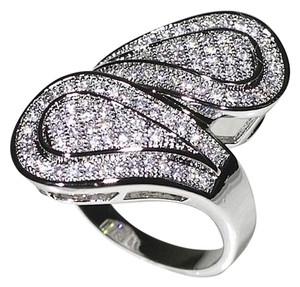 9.2.5 Gorgeous diamond pave infinity wrap ring size 7.5