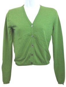Salvatore Ferragamo Green Knit Cardigan