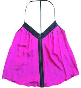 Silence + Noise Strappy Urban Outfitters Dressy Tank Zipper Top Pink