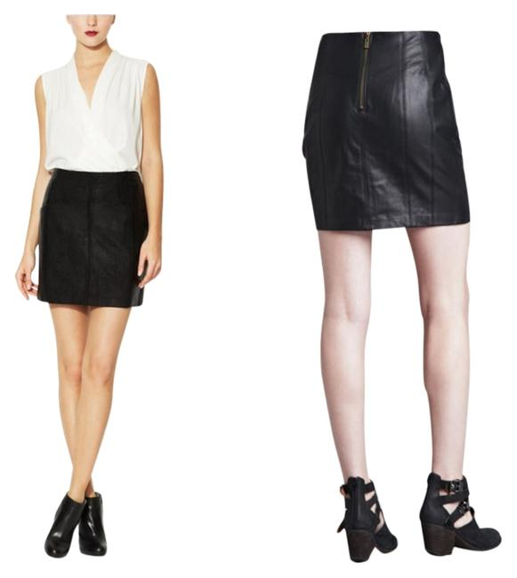 Item - Black Castle Suede/Leather Skirt Size 0 (XS, 25)