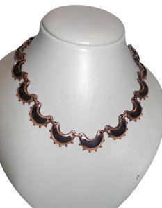 Vintage Renoir copper & enamal necklace