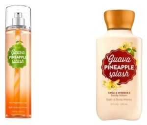 Bath and Body Works Guava Pineapple Splash Set Of Body Mist & Body Lotion 8oz