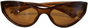 Gucci Gucci carmel brown Cat-eye glasses w/ black Gucci hard case
