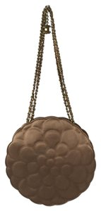 Chanel Camelia Quilted Chain Satin Shoulder Bag