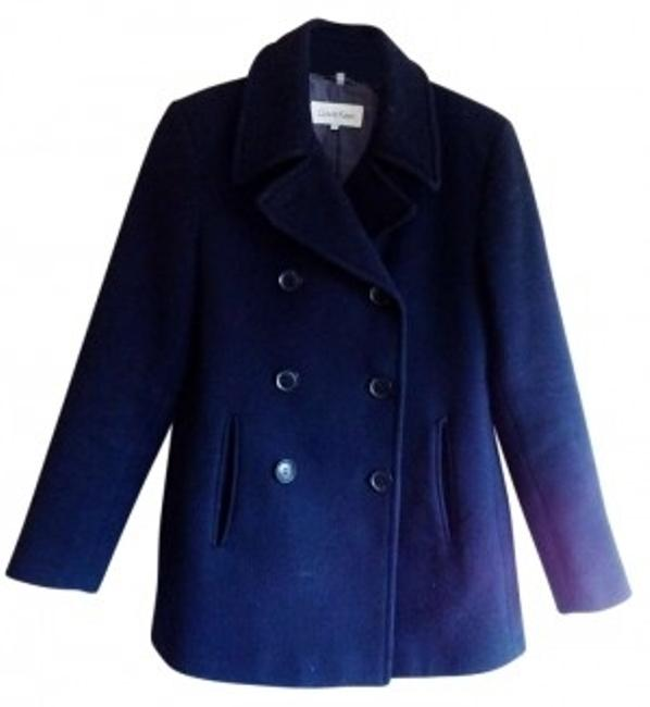 Preload https://item2.tradesy.com/images/calvin-klein-navy-blue-wool-pea-coat-size-6-s-145771-0-0.jpg?width=400&height=650