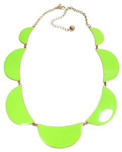 Kate Spade NEW Kate Spade Scallop Necklace Brand New Beautiful Scallops in Vibrant Chartreuse Enamel with 12K Gold Plate
