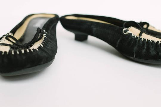 Unlisted by Kenneth Cole Suede Vintage Black & Taupe Flats