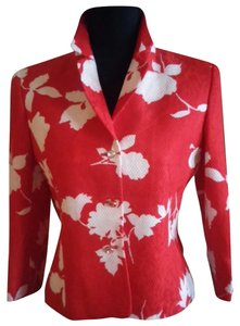 Escada Jacket Light Weight Red White Blazer