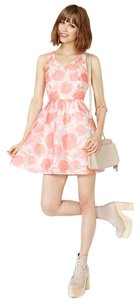 Nasty Gal short dress Pink and white Floral Wedding Summer Roses on Tradesy