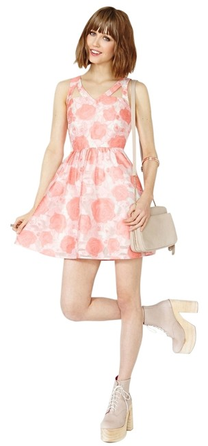 Preload https://img-static.tradesy.com/item/14578183/nasty-gal-pink-and-white-painting-the-roses-short-casual-dress-size-6-s-0-1-650-650.jpg