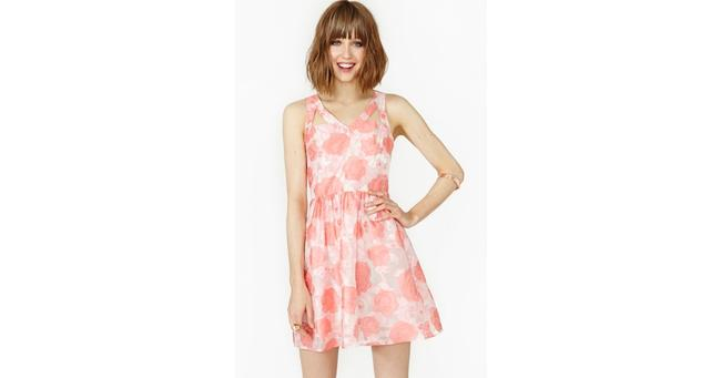 Nasty Gal short dress Pink and white Floral Wedding Summer Spring Roses on Tradesy Image 1