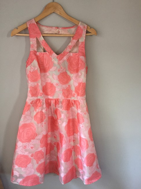 Nasty Gal short dress Pink and white Floral Wedding Summer Spring Roses on Tradesy Image 3