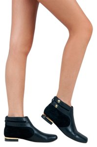 Seychelles Gold Accents Suede Leather Black Boots
