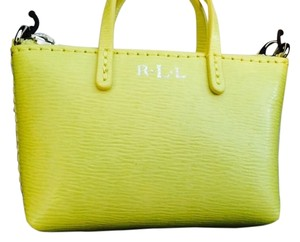 Ralph Lauren RALPH LAUREN Newbury Mini Bag Charm - Citron Leather