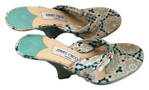 Jimmy Choo green Wedges