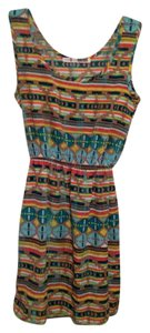 Necessary Objects short dress Multi Tribal Print Spring on Tradesy