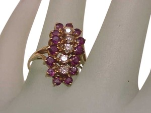 Other Estate Vintage 14k Yellow Gold Ring: 1.35carats Diamond & Ruby,s ,1950's