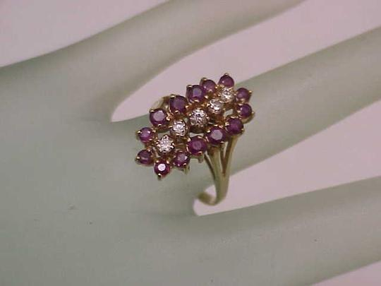 Other Estate Vintage 14k Yellow Gold Ring: 2.00cts Diamonds & Rubies Image 1