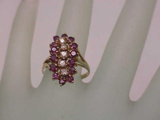 Other Estate Vintage 14k Yellow Gold Ring: 2.00cts Diamonds & Rubies Image 2