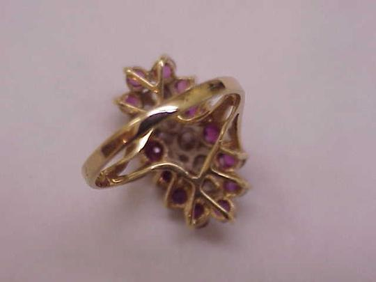 Other Estate Vintage 14k Yellow Gold Ring: 2.00cts Diamonds & Rubies Image 3