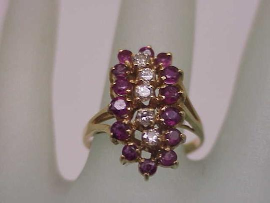 Other Estate Vintage 14k Yellow Gold Ring: 2.00cts Diamonds & Rubies Image 6