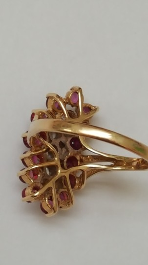 Other Estate Vintage 14k Yellow Gold Ring: 2.00cts Diamonds & Rubies Image 8