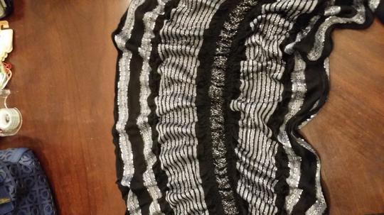 Boutique Black, White & Silver Scarf
