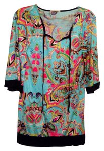 Tua short dress Turquoise/Multi Beachy Tunic Floral Spring Shift on Tradesy