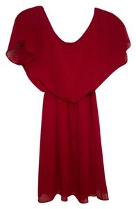 Chiffon Garnet Red Dress