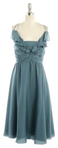 Anthropologie Blue Silk Weddings Beach Dress