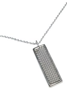 Tiffany & Co. Tiffany & Co. Sterling Silver Somerset Mesh Pendant Necklace