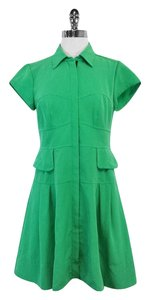 Nanette Lepore short dress Green Zip Front on Tradesy