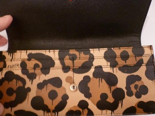 Coach Coach 53454 Soft Slim Envelope Wallet tan Wild Beast Image 2