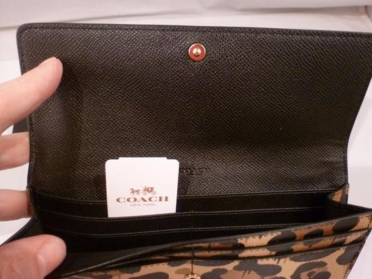 Coach Coach 53454 Soft Slim Envelope Wallet tan Wild Beast Image 4