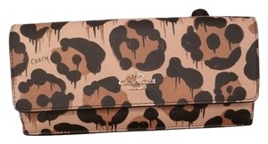 Coach Coach 53454 Soft Slim Envelope Wallet tan Wild Beast