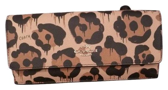 Coach Coach 53454 Soft Slim Envelope Wallet tan Wild Beast Image 0