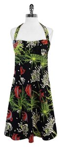 Nanette Lepore short dress Black Green Coral Print on Tradesy